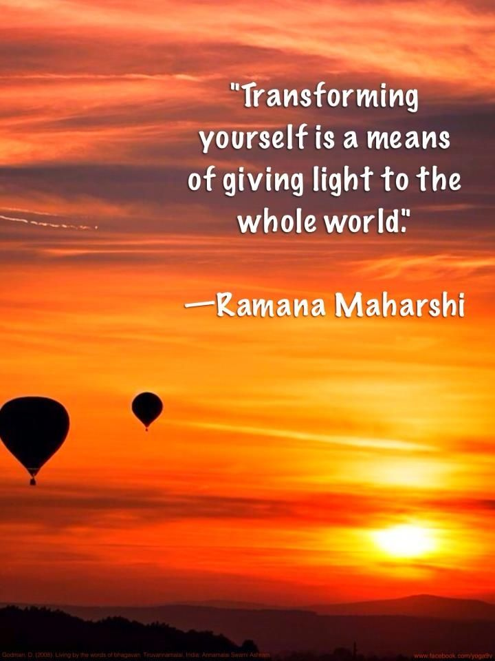 Transforming yourself...