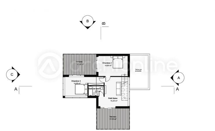 Maison Fastyle - Plan de maison Moderne par Archionline fastyle