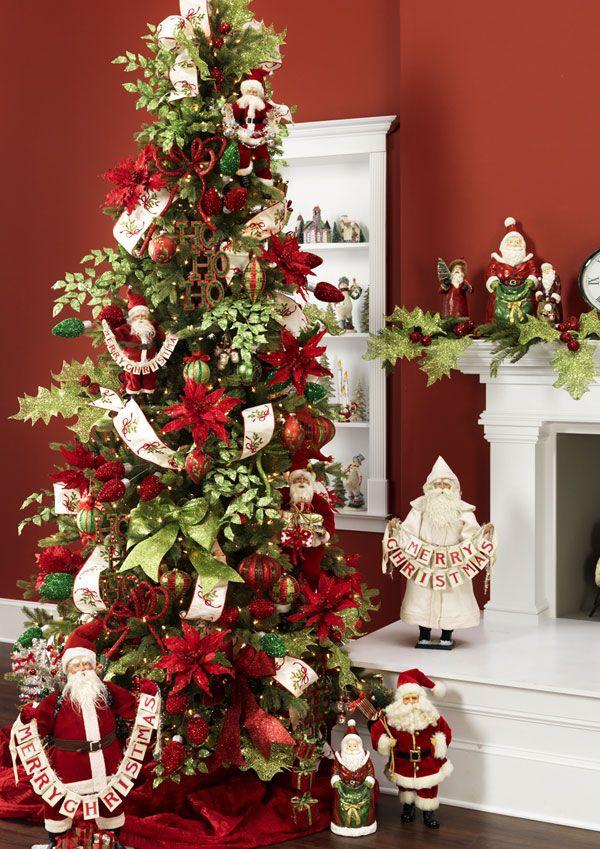 2013 Merry Mistletoe Tree 1 Elegant Christmas Trees Christmas Tree Themes Christmas Tree Decorations