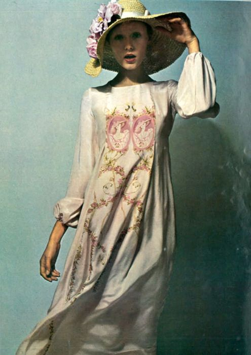Susan Moncur by Guy Bourdin for French Vogue, 1970.
