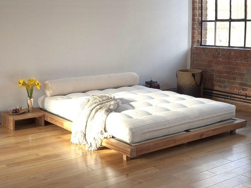 Low Platform Bed Frame Queen Home Design Ideas Loznice Postel