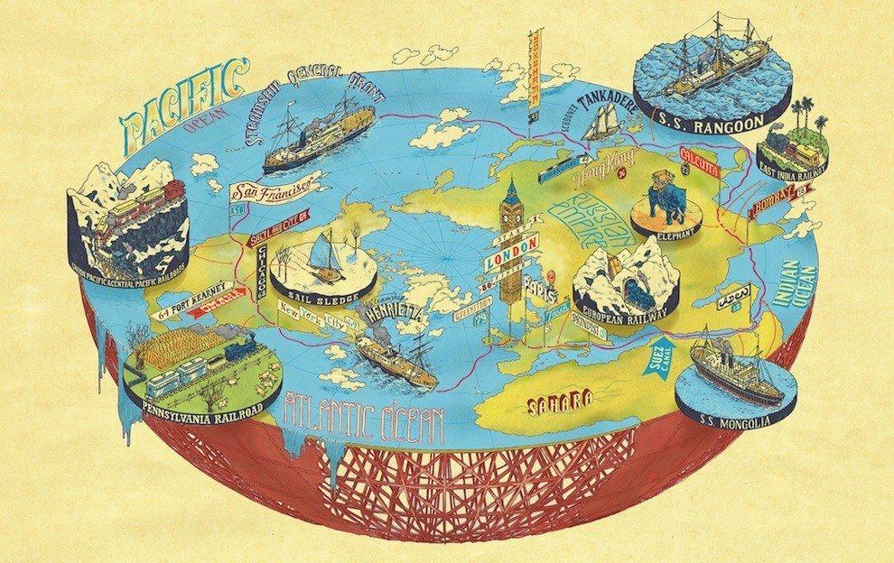 around the world in days by jules verne