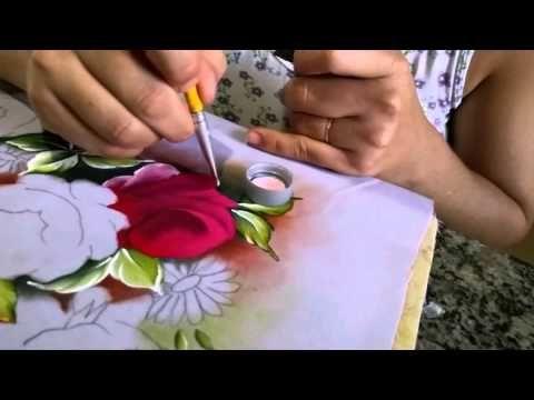 Pintura Em Tecido Com Lozangela Ferreira Youtube Com Imagens