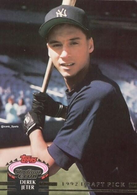 Derek Jeters 1993 Rookie Baseball Card The Yankees New York