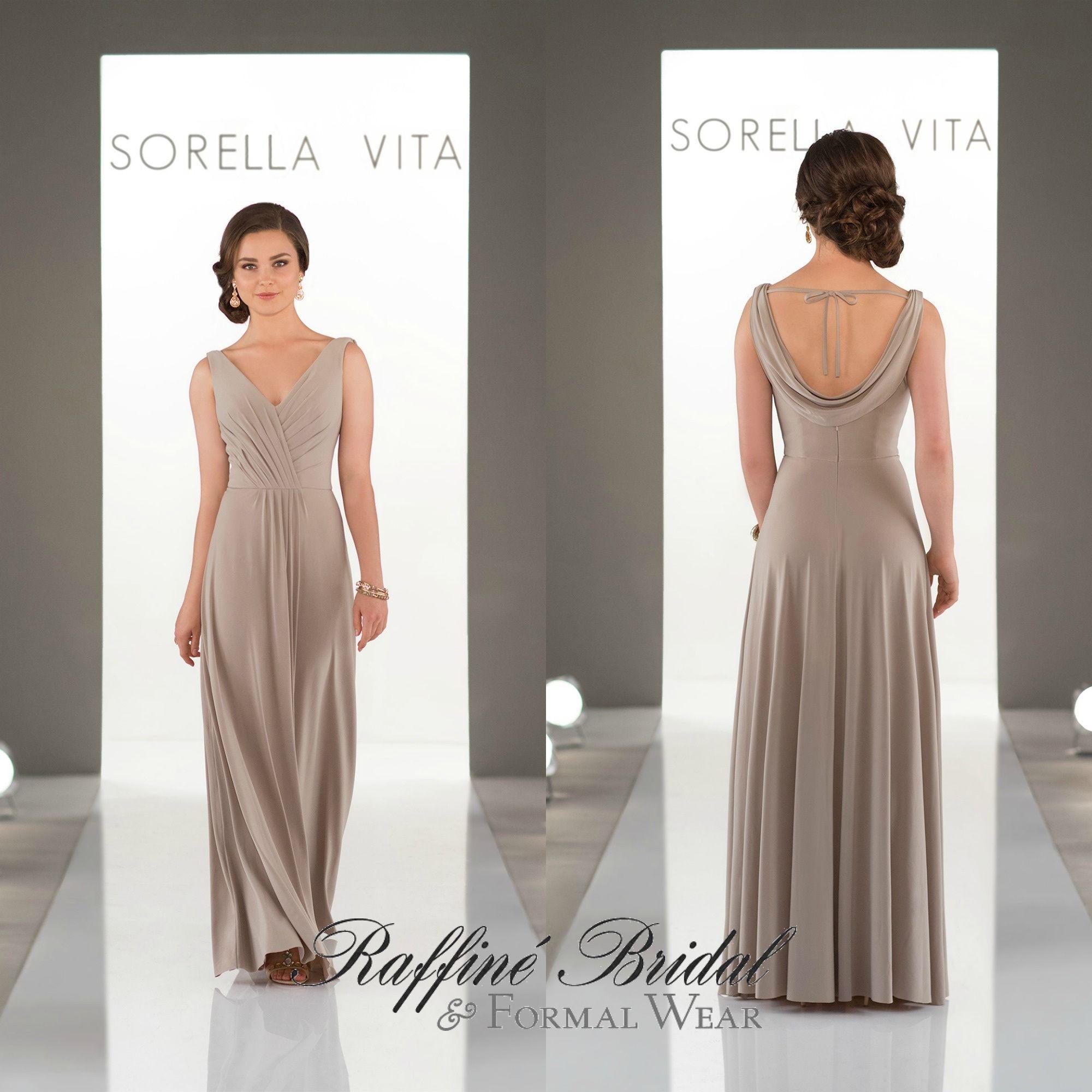 Sorella vita 8862 floor length flowing jersey bridesmaid style sorella vita 8862 floor length flowing jersey bridesmaid style with an elegant v ombrellifo Images
