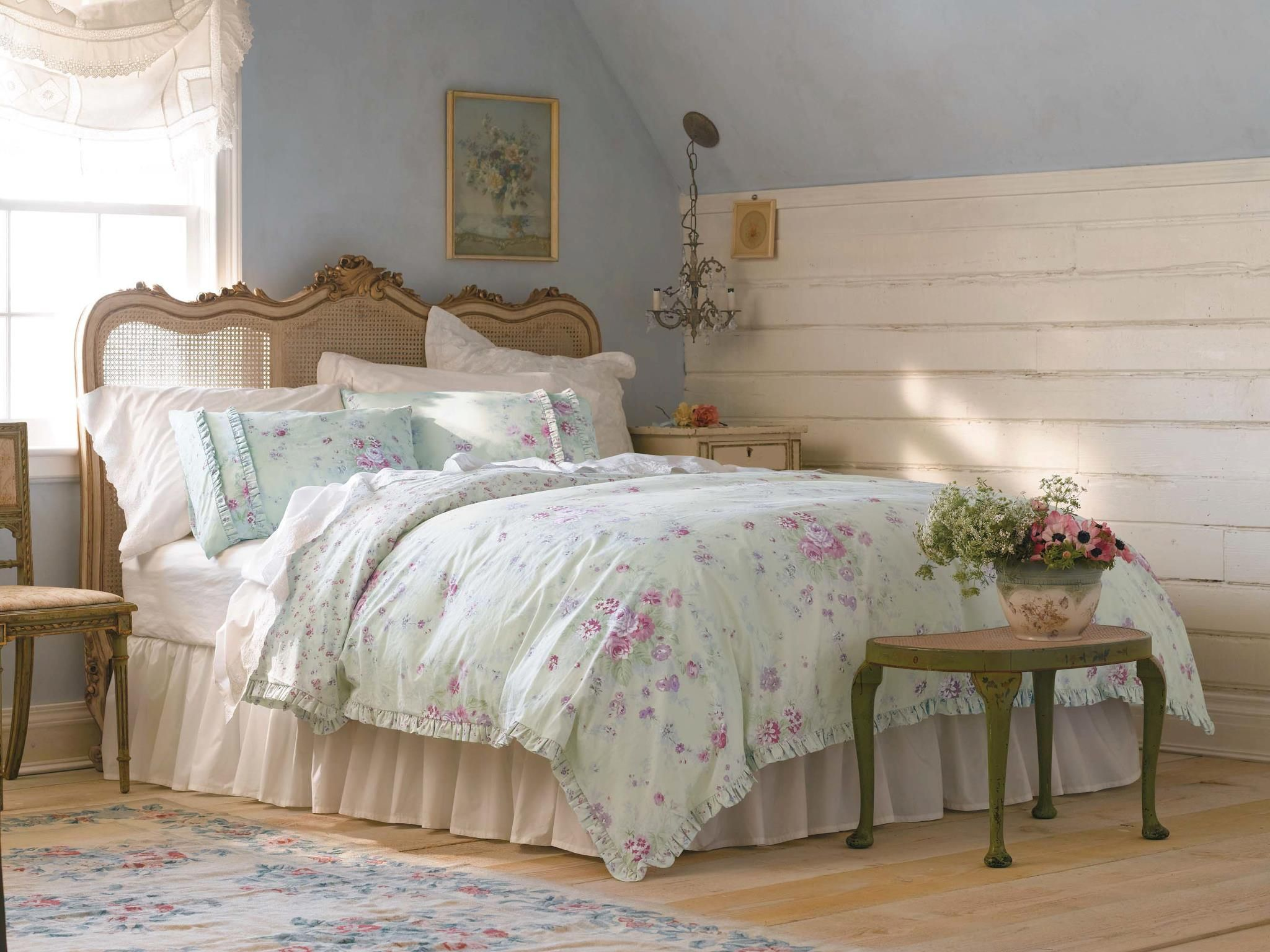 Simply Shabby Chic Tar Bramble bedding more color accurate