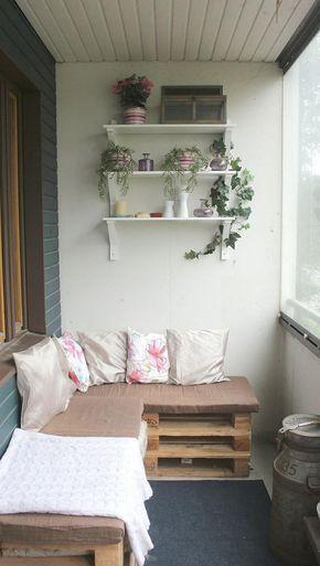 Ecksofa aus Paletten auf dem Balkon | wohnung | Pinterest | Der ...