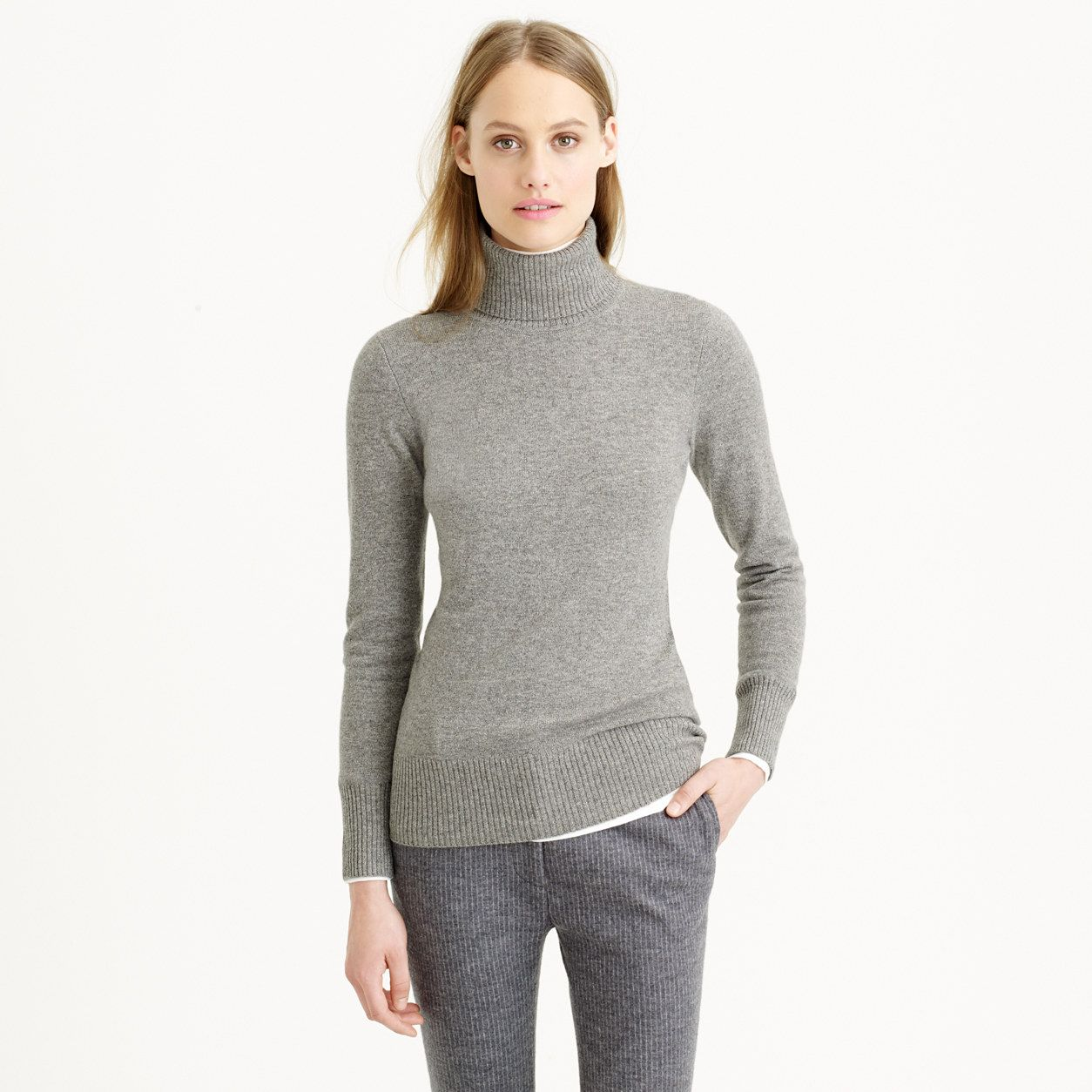 Collection cashmere turtleneck sweater : Cashmere | J.Crew | style ...