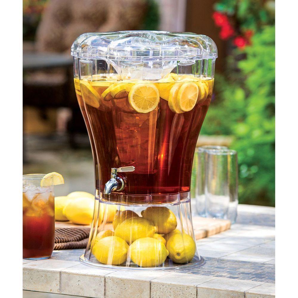 Picnic Drink Dispenser 3 5 Gl Large Beverage Pitcher Steel Spigot