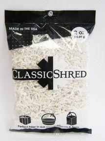 White 2oz Paper Shred