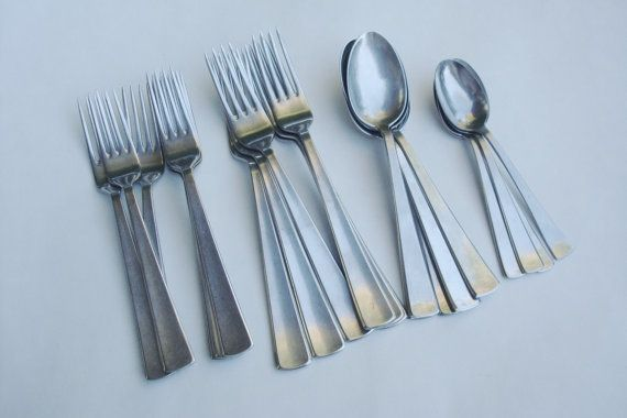 22 Pcs WMF MEISTERSINGER Stainless Flatware by TheAnteekTrunque