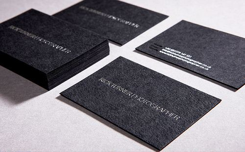 Business Cards Rick Turner Embossed Business Cards Printing Business Cards Black Business Card
