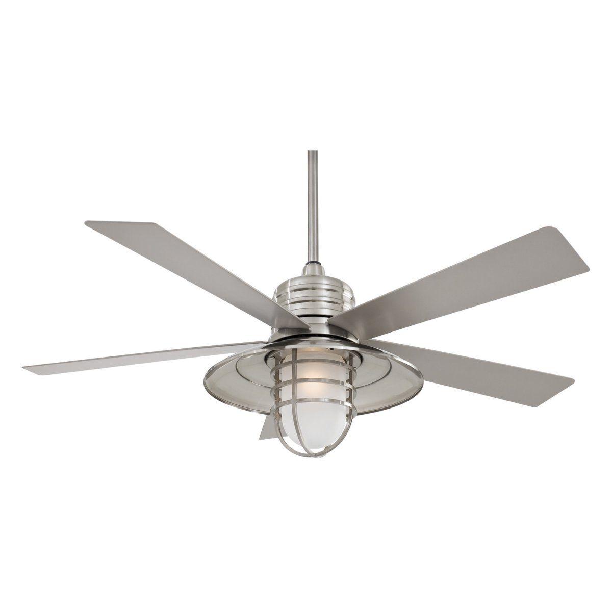 Minka Aire F582-BNW Rainman 54 in. Outdoor Ceiling Fan - Brushed ...