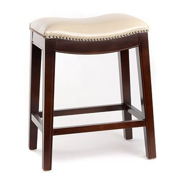 Inspirational Leather Nailhead Counter Stools