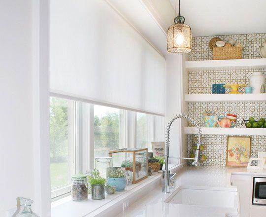 Kitchen Window Blinds Translucent Roller