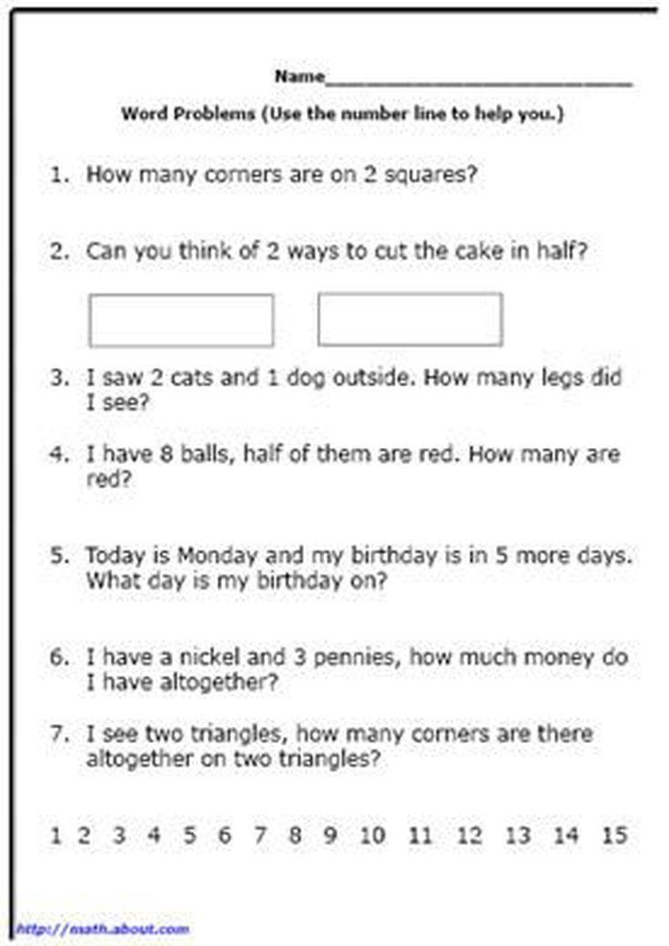 First Grade Math: Printable Word Problem Worksheets   Pinterest ...