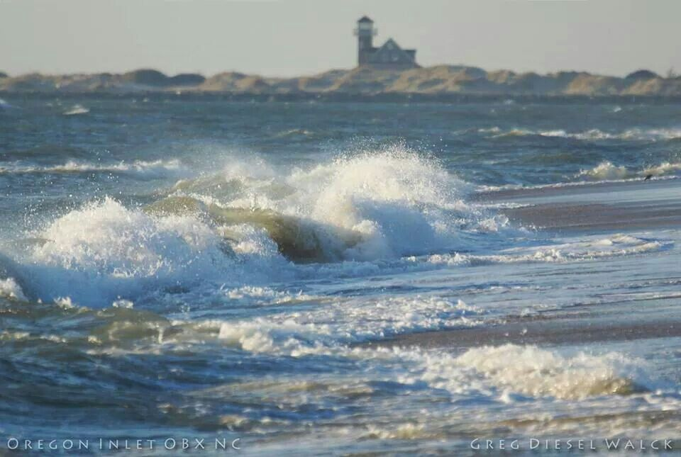 Outer Banks NC Local Artists Facebook post:  Rough Seas at Oregon Inlet.  Photographer credit: Greg Diesel Walck.