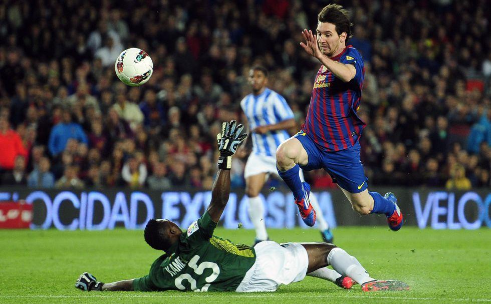 Barça 4 - Màlaga 1. 3r gol de Messi.
