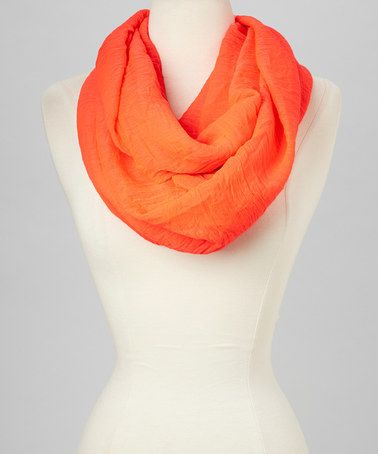 Another great find on #zulily! Coral Fringe Infinity Scarf #zulilyfinds