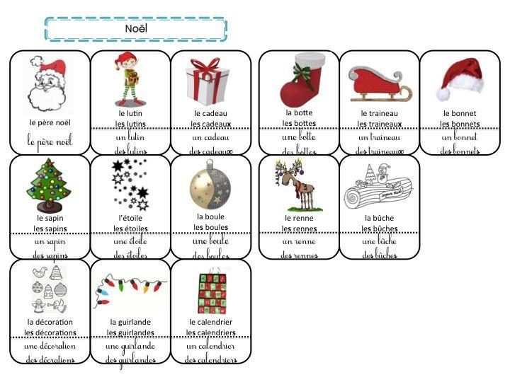 Super Noël (cahier de mots) - La classe de Frisettes | Vocabulaire  LO01