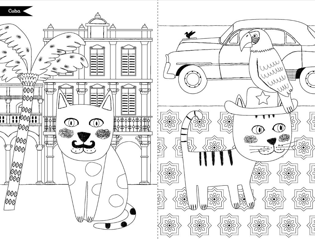 Les chats du monde colorier - Chat a colorier ...