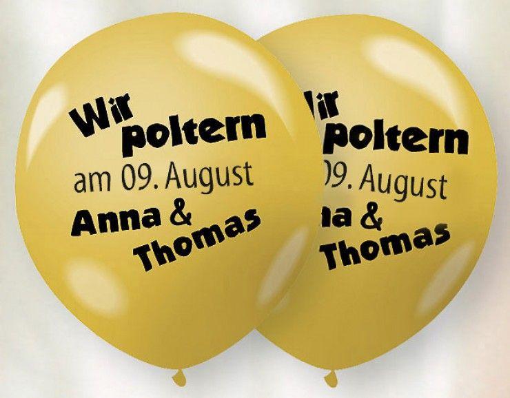Luftballons Als Einladung Zum Polterabend Polterabend Ballon Einladung Einladungen