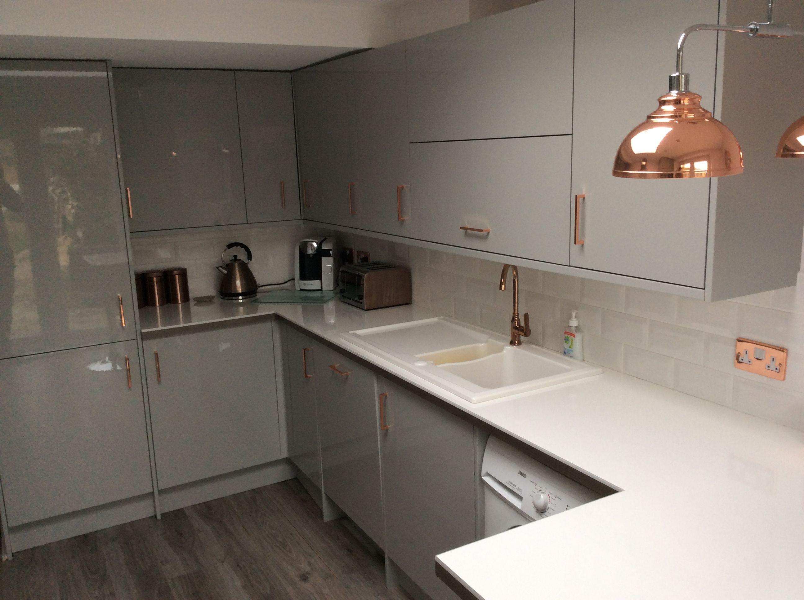 My grey and copper kitchen | Copper/Grey Kitchen ...