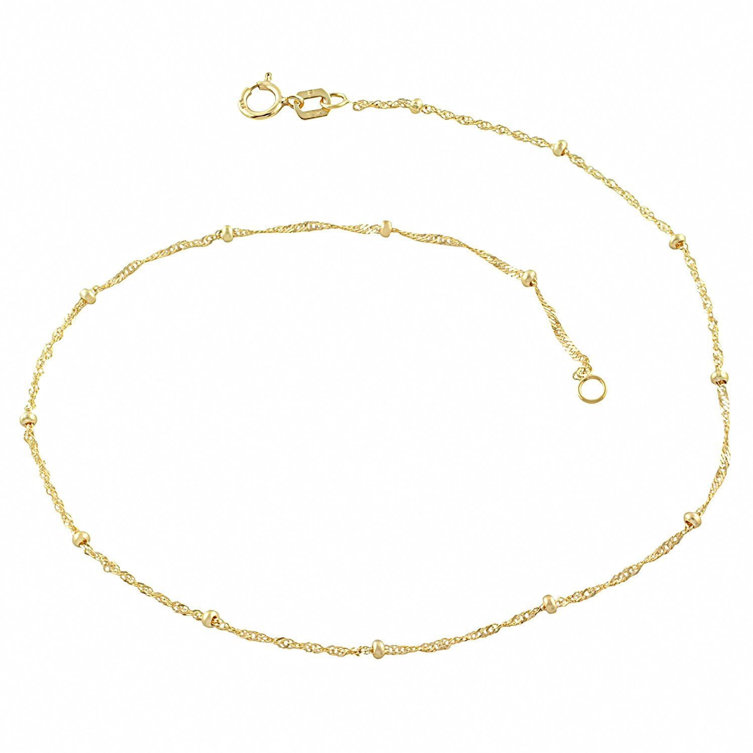 inch gold anklet today jewelry free saturn fremada product watches singapore mm shipping karat overstock yellow