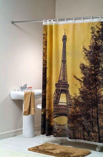 Curtain Ideas Paris Themed Bathroom Shower Living Rooms Room Decor