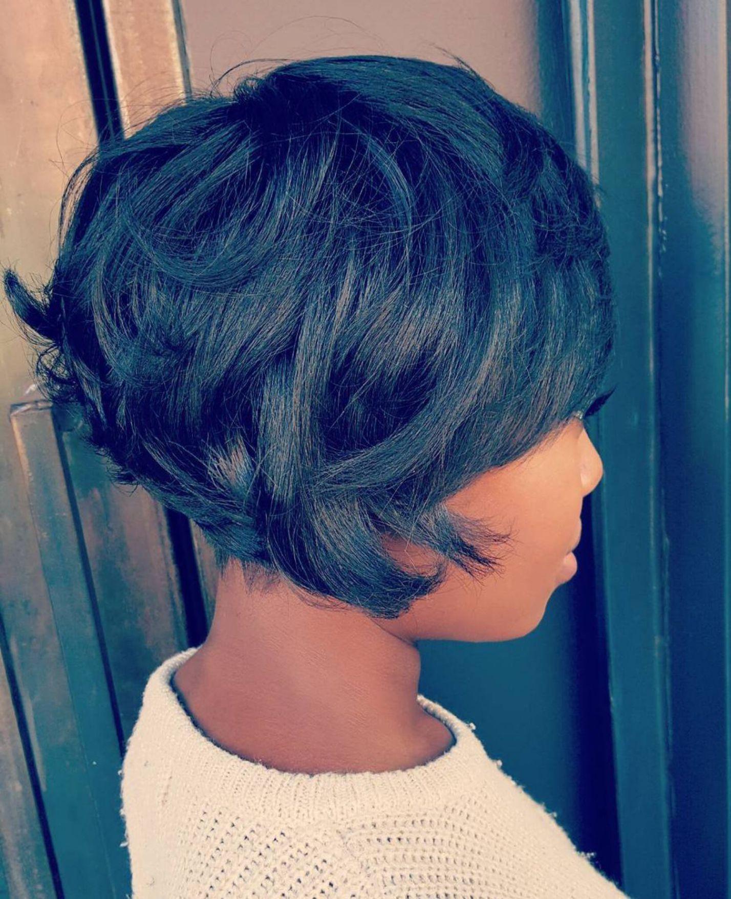 60 Great Short Hairstyles For Black Women Choppy Bob Hairstyles