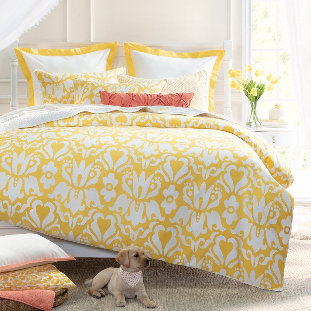 Yellow Linden Border Duvet Cover Twin Twin Xl With Images