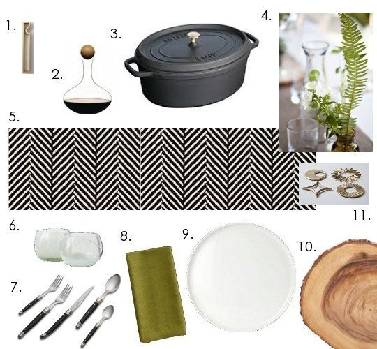 Entertaining Elements: Setting an Organic Black & White Table