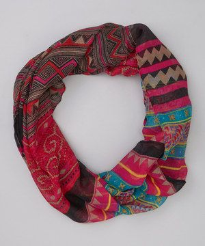 This Hot Pink Tribal Infinity Scarf by DM Merchandising is perfect! #zulilyfinds