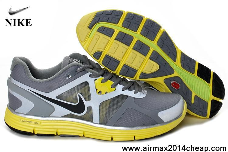 2013 Cool Grey Black-Sonic Yellow-Reflective Silver Nike Lunarglide 2 Womens  Newest Now