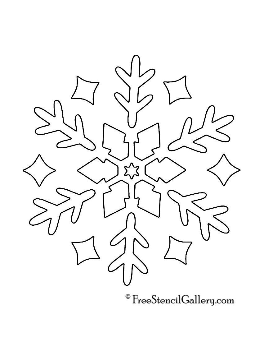 Snowflake Stencil 10 | Snowflake stencil, Christmas ...