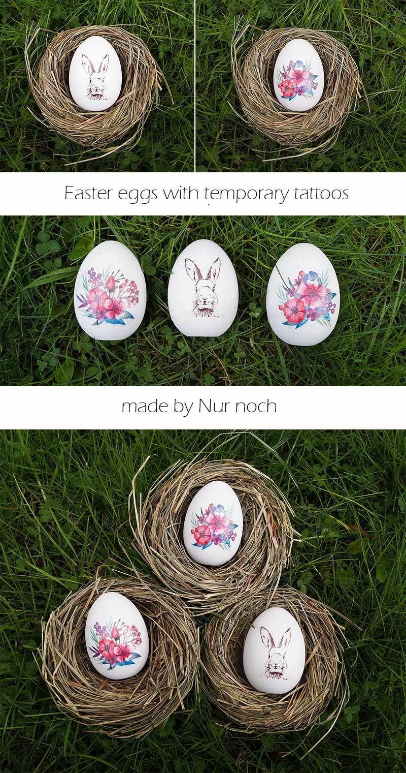 Easy easter eggs with temporary tattoos easter eggs diy