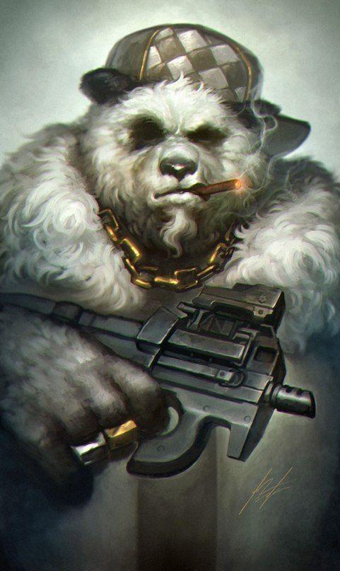 классный картинки медведя с пушкой открытой