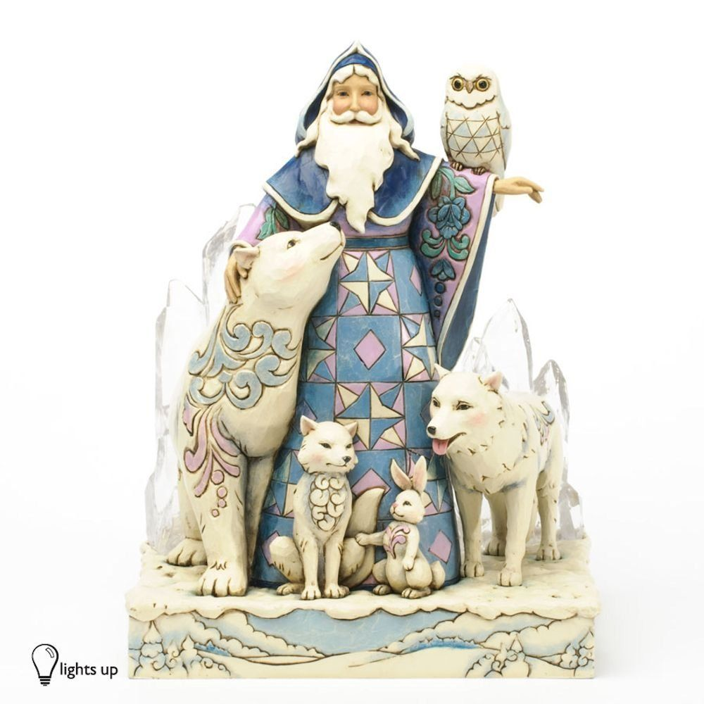 Amazon.com - Jim Shore for Enesco Heartwood Creek Winter Santa Masterpiece Figurine, 9.75-Inch - Heartwood Creek Santa