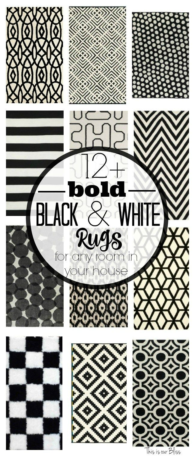 12 Bold Black And White Geometric Rugs For Any Room In Your House Clic