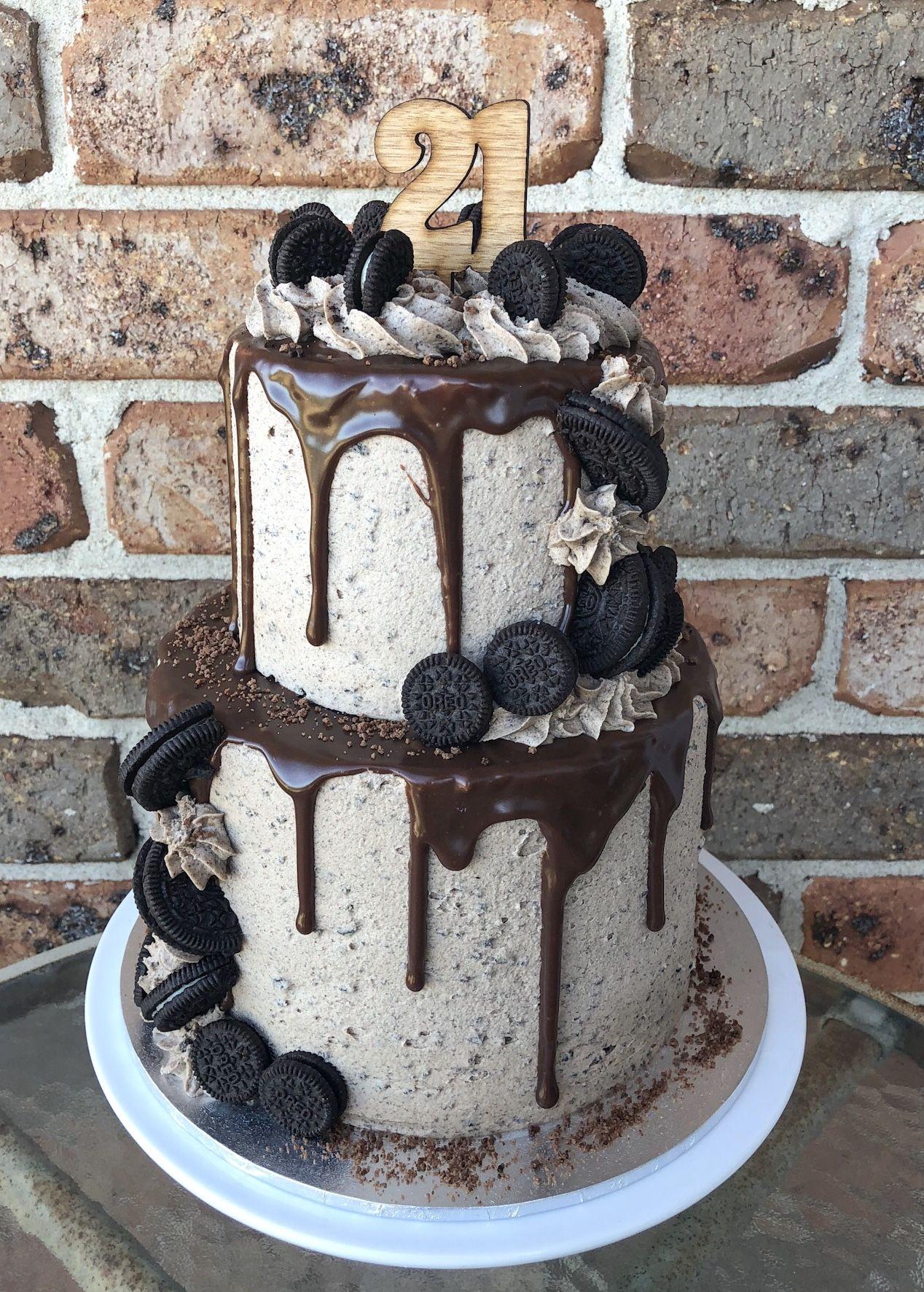 Phenomenal 2 Tier Oreo Drip Cake Oreo Cake Recipes Funny Birthday Cards Online Kookostrdamsfinfo