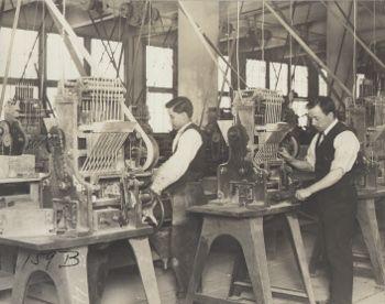 Men Making Nickel Iron Storage Batteries In West Orange Factory.