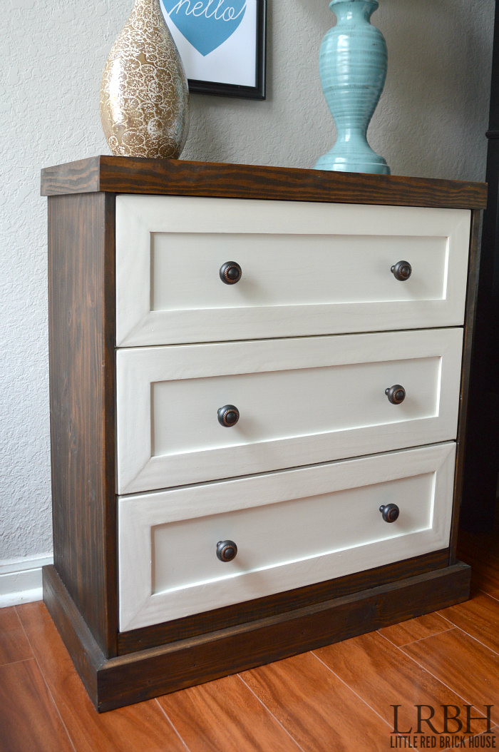 Two Toned IKEA Rast Dresser Hack | Little Red Brick House Photo