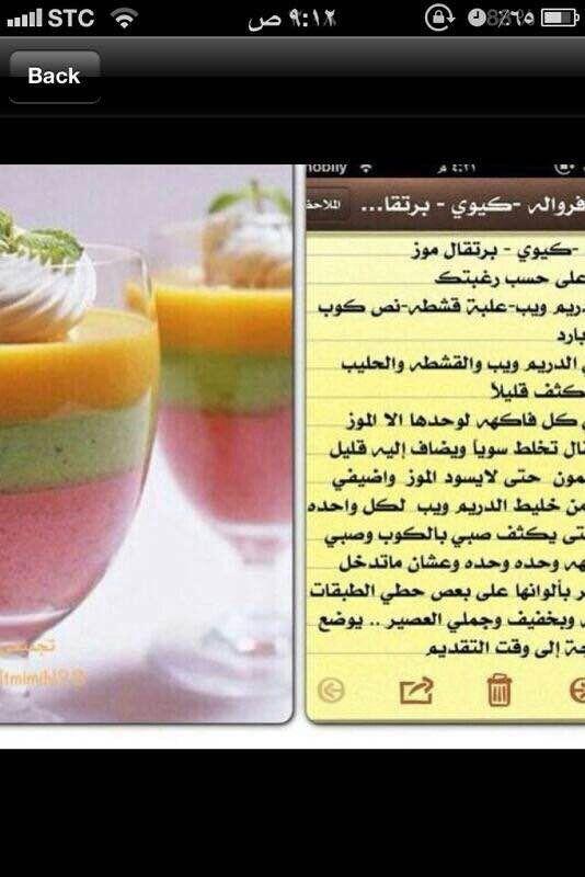 عصير طبقات Ramadan Desserts Arabic Food Smoothie Recipes