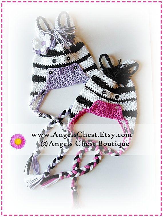 PDF PATTERN Cute Hand Crochet ZEBRA Hat Newborn to Adult Size ...
