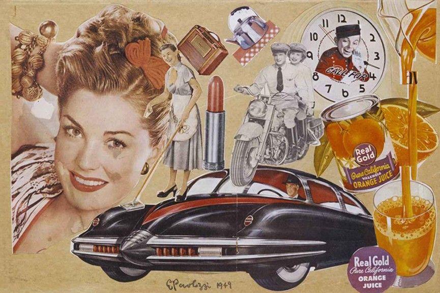 Image result for 1950s art eduardo paolozzi pop art op art