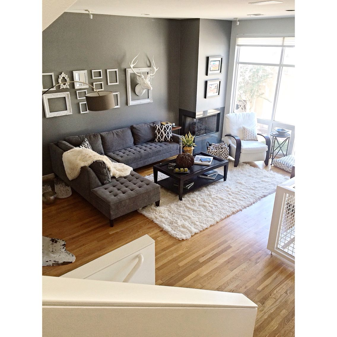 My Living Room In My Dallas, Texas Townhouse. Couch, Deer