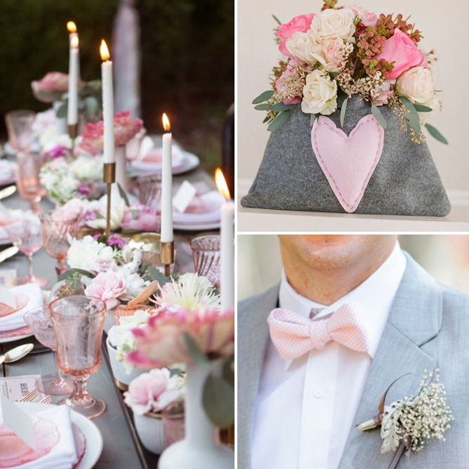 Wedding Color Palette Pink Gray And White
