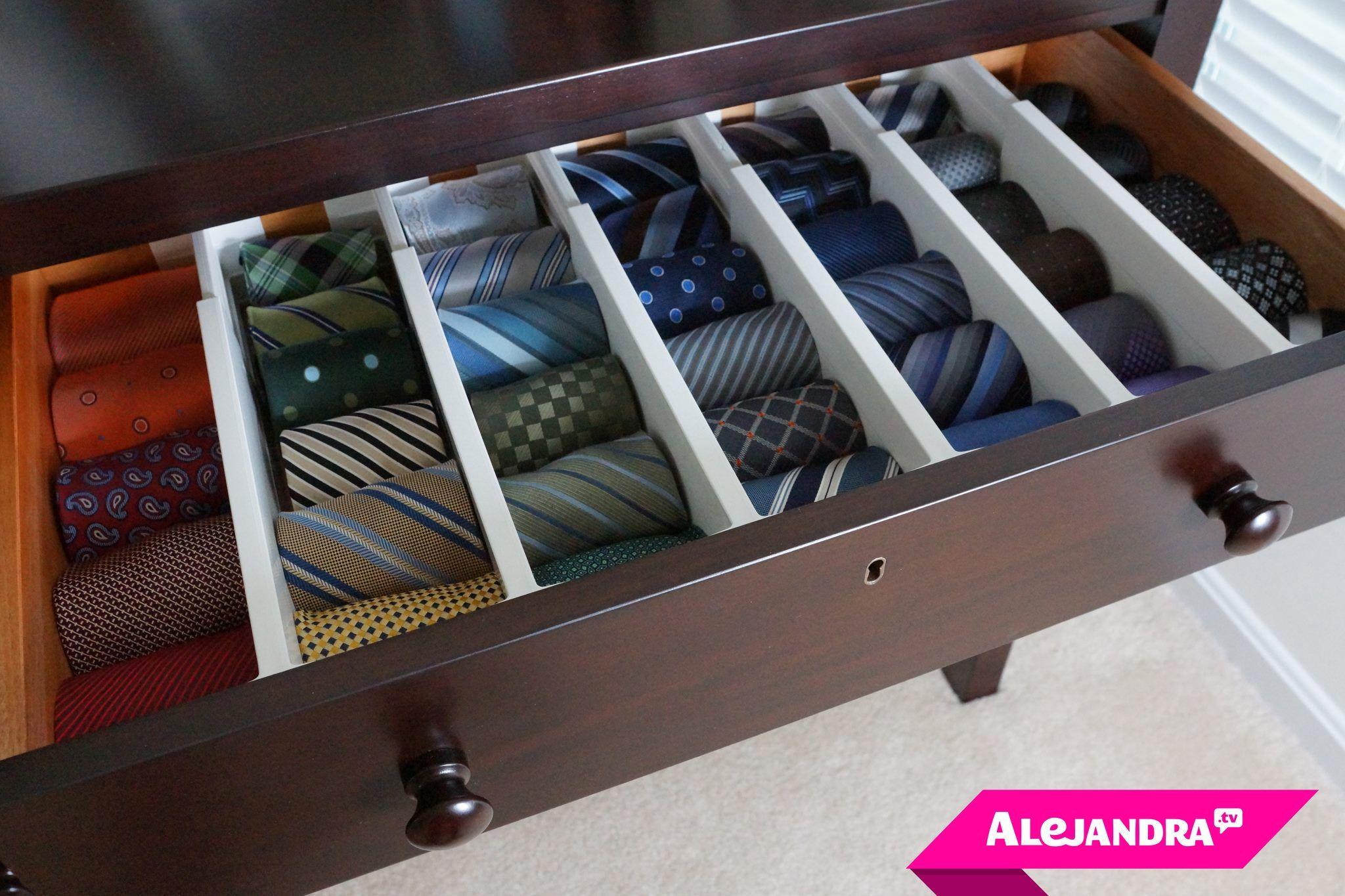 How to Organize Men\u0027s Ties Mens Closet Organization Wardrobe Organisation Organization Hacks Bedroom & How to Organize Men\u0027s Ties   Men\u0027s Fashion   Pinterest ...