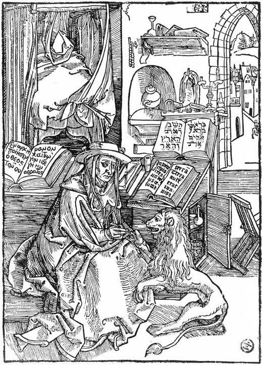 St Jerome Coloring Page Albrecht Durer St Jerome