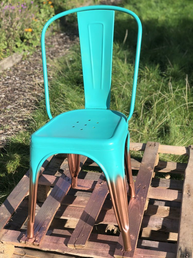 how to spray paint metal chairs